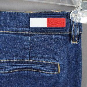 VTG 90's Tommy Jeans Flag Patch Denim Long Skirt